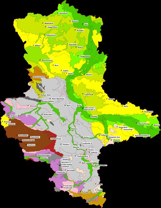 Abbildung: Boden-Dauerbeobachtung in Sachsen-Anhalt