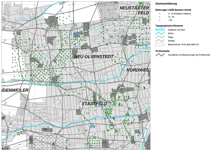 Abbildung der Dokumentationskarte (Karte 1) des Teilblattes 0905-312