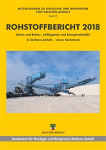 Abbildung: Titelseite Rohstoffbericht Sachsen-Anhalt 2018, Titelbild: Absetzer Salzhalde Zielitz (2018) mit freundlicher Genehmigung der K+S KALI GmbH, Werk Zielitz