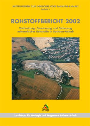 Abbildung: Titelseite Rohstoffbericht Sachsen-Anhalt 2002