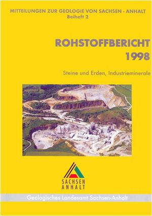 Abbildung: Titelseite Rohstoffbericht Sachsen-Anhalt 1998